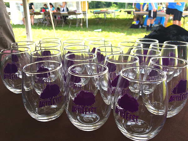 SJ Arts Fest wine glasses