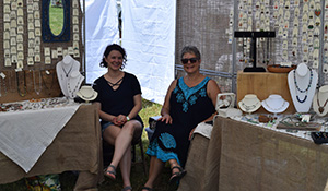 Crafters enjoying South Jersey Arts Fest