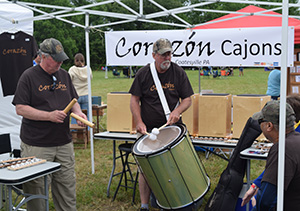 Percussion demonstration at South Jersey Arts Fest