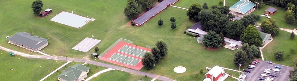 Aerial view of Appel Farm grounds and facilities
