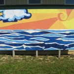 Ocean and Sun Mural: Designed by Nicole Porter