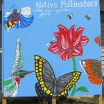 Native Pollinators Mural, Butterfly Garden: Designed by Kristin Ivey