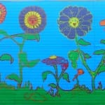 Garden Mural, Recording Arts Trailer: Designed by Nicole Porter