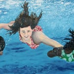 Under Water Swimmers Mural: Designed by Peter Keegan