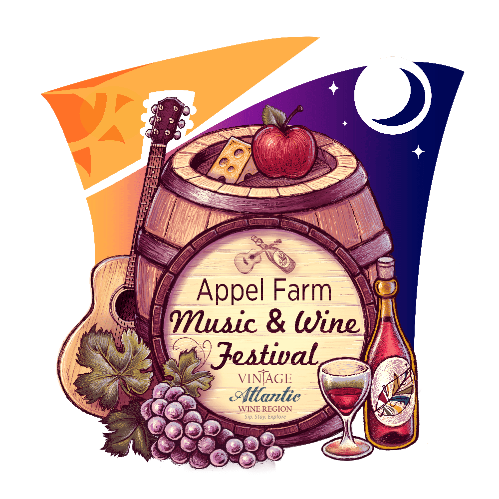 Logo for Appel Farm Music and Wine Festival