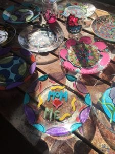 Decorative glassware created by Dream Retreat patrons.