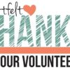 Clipart graphic thanking volunteers