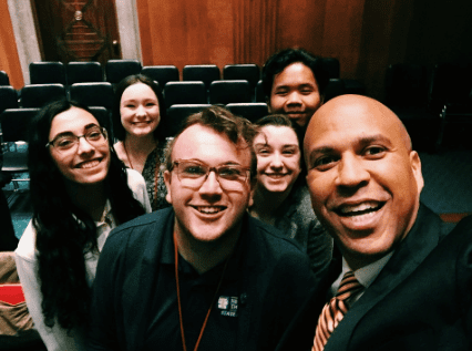 Hanging with Senator Booker, Arts Advocacy Day 2018
