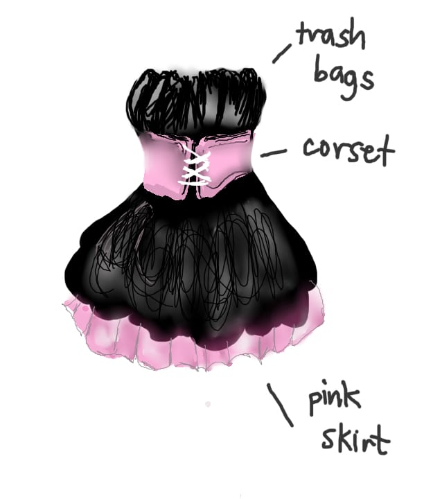 Trashbag Dress Image